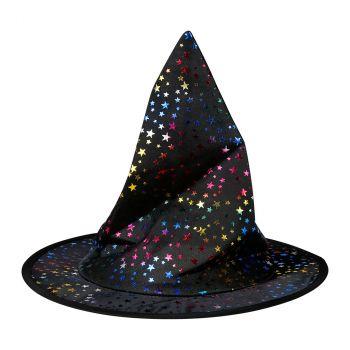 Chapeau de sorcière étoile enfant  halloween irisé
