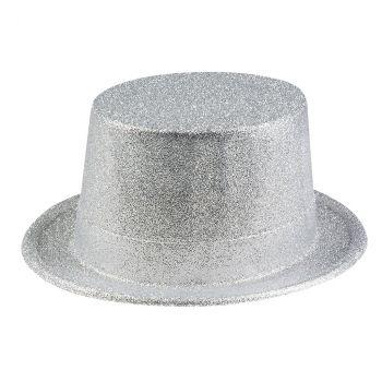 Chapeau glitter argent