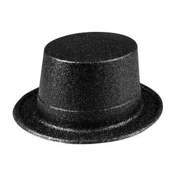 Chapeau glitter noir