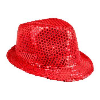 Chapeau popstar à sequins 10 couleurs au choix