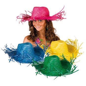 Chapeau tropique 4 couleurs au choix