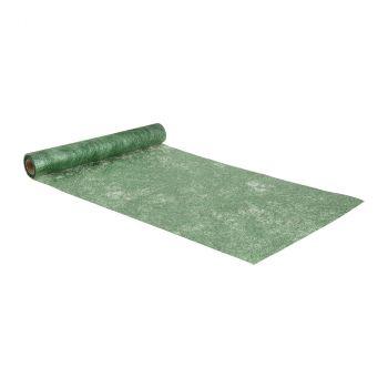 Chemin de table 30cmx10m brillance vert