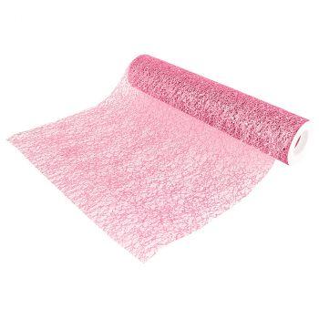 Chemin de table glitter vieux rose 30cmx5m