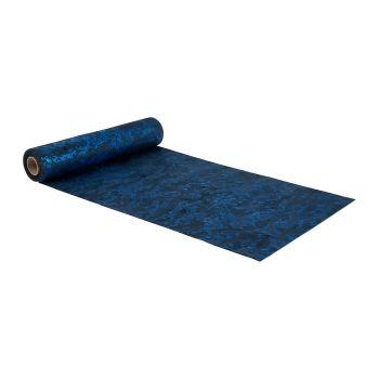 Chemin de table Heaven velours 28cmx3m bleu