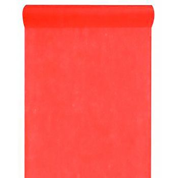 Chemin de table intissé uni rouge 30cmx10m