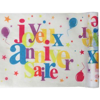 Chemin de table Joyeux anniversaire 30cm x5m