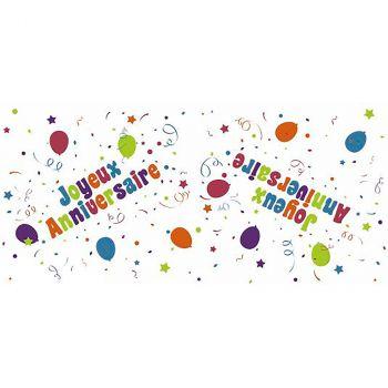 Chemin de table Joyeux anniversaire ballons colorés30cmx5m