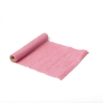 Chemin de table paillettes rose 28cmx3m