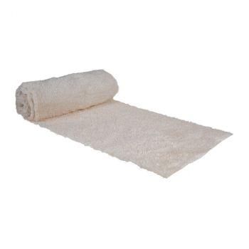 Chemin de table soft filament or 30cmx3m blanc