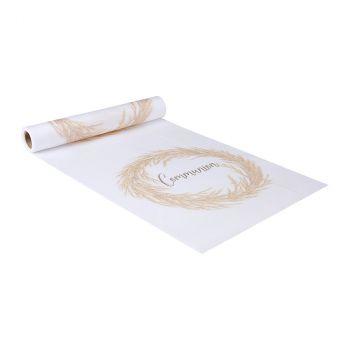 Chemin de table tissus 28cmx5m communion