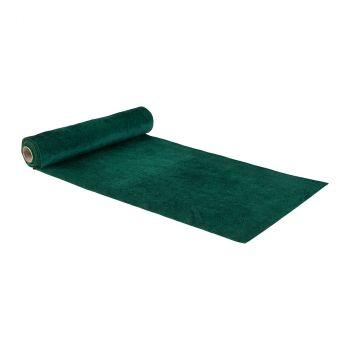 Chemin de table velvet 28cmx3m vert