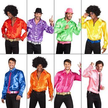 Chemise disco homme  8 couleurs au choix