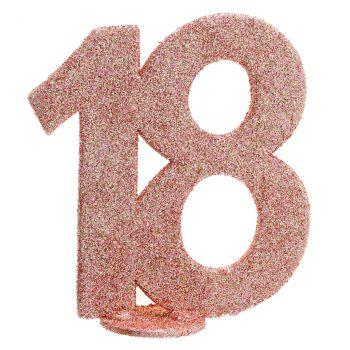 Chiffre anniversaire rose gold 18