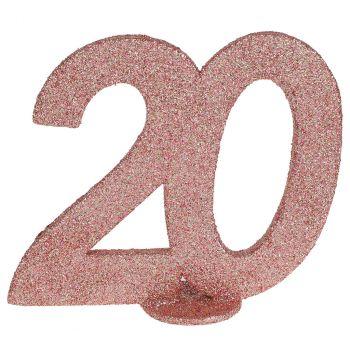 Chiffre anniversaire rose gold 20