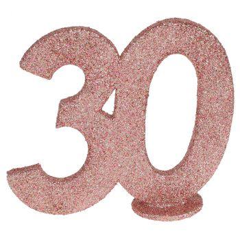 Chiffre anniversaire rose gold 30