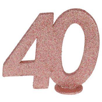 Chiffre anniversaire rose gold 40