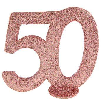 Chiffre anniversaire rose gold 50