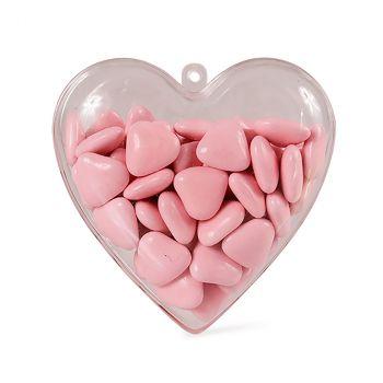 Cœur contenant à dragées transparent 8cm