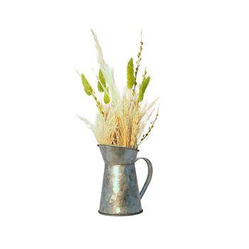 Composition florale naturelle arossoir 8x11x26