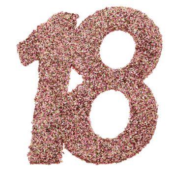 Confettis paillettés 18ans rose gold