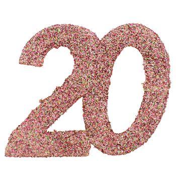 Confettis paillettés 20ans rose gold