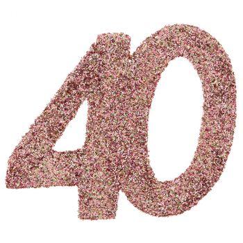 Confettis paillettés 40ans rose gold