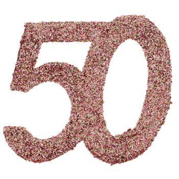 Confettis paillettés 50ans rose gold