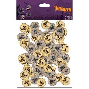 Confettis papier Halloween x50