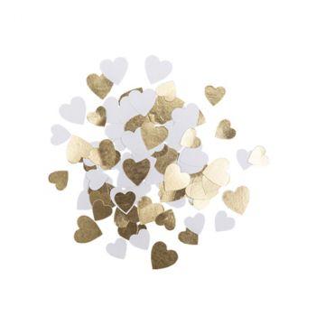 Confettis papier x100 petit cœur