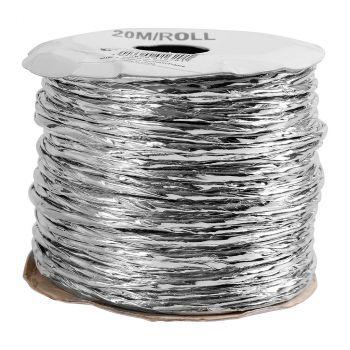 Cordon laiton metal 20m argent