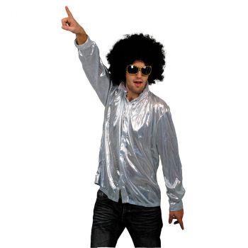 Costume homme chemise Night Fever argentée
