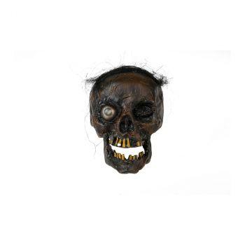 Crâne halloween avec yeux LED 21cm