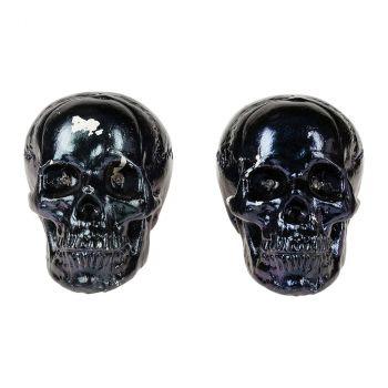 Crâne lumineux halloween 21cm