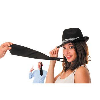 Cravate satin noir