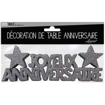 Décoration de table anniversaire argent