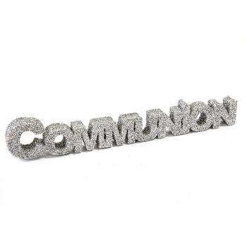 Décoration de table communion argent