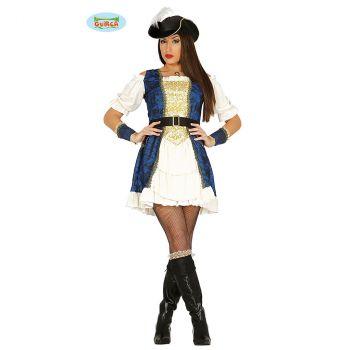 Déguisement femme Pirate bleu T M