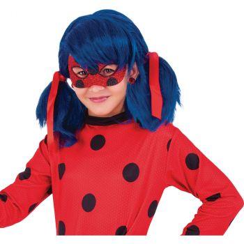 Déguisement fille Ladybug loup pailleté