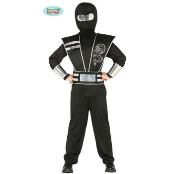 Déguisement garçon Ninja noir 10/12 ans