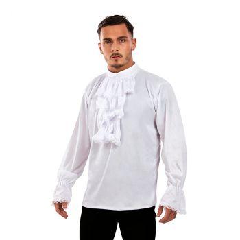 Déguisement homme chemise à jabot blanc