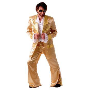 Déguisement homme Disco Forever doré
