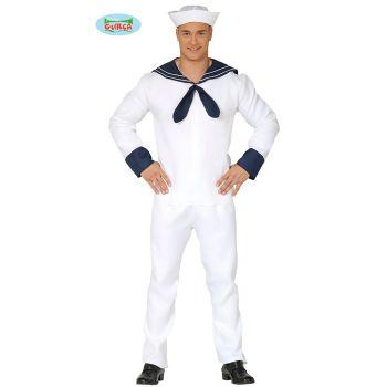 Déguisement homme marin blanc T M