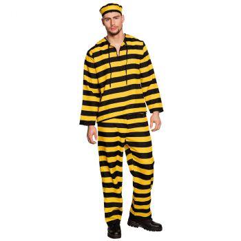 Déguisement homme prisonnier jaune et noir T 50/52
