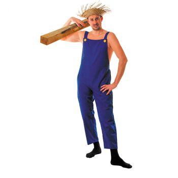 Déguisement homme salopette bleue