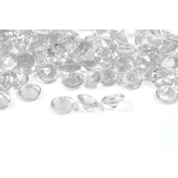 Diamants décoratifs transparent 60gr
