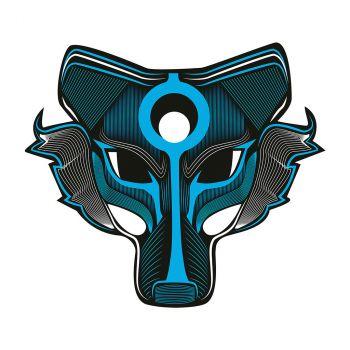 Electro masque loup