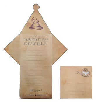 Enveloppe invitation sorcier x8