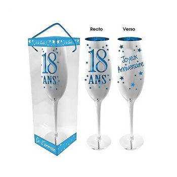 Flute à champagne 18 ans bleu