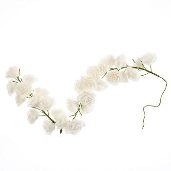Guirlande de rose 50cm blanche