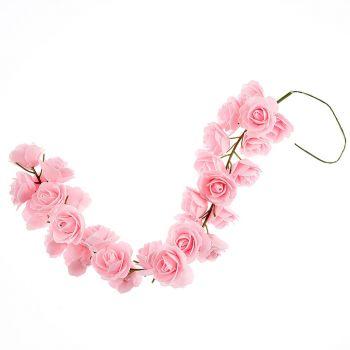 Guirlande de rose 50cm rose